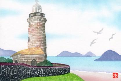 岬の春・男木島灯台